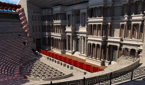 Illustration du théâtre antique d'Orange en 3D
